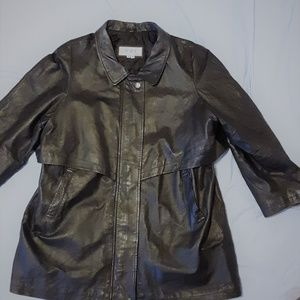 Genuine Black Leather Coat by Comint 3X